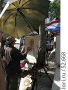 Купить «Художник на Монтмартре», фото № 52668, снято 30 апреля 2007 г. (c) Федюнин Александр / Фотобанк Лори