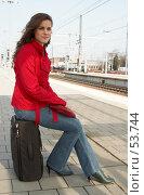 Купить «Ожидая свой поезд», фото № 53744, снято 1 апреля 2007 г. (c) Михаил Лавренов / Фотобанк Лори