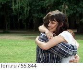 Купить «Встреча. Обнимающиеся парень и девушка.», фото № 55844, снято 24 июня 2007 г. (c) Тим Казаков / Фотобанк Лори
