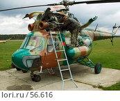 Вертолет на ремонте. Стоковое фото, фотограф Вадим Кондратенков / Фотобанк Лори