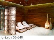 Купить «Интерьер. комната для отдыха перед бассейном и сауной.», фото № 56640, снято 12 октября 2006 г. (c) Ирина Мойсеева / Фотобанк Лори