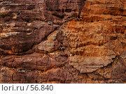 Купить «Переходы цвета на скале из песчаника», фото № 56840, снято 5 июля 2007 г. (c) Eleanor Wilks / Фотобанк Лори