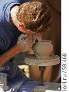 Купить «Профессия - гончар», фото № 58468, снято 4 сентября 2005 г. (c) Захаров Владимир / Фотобанк Лори