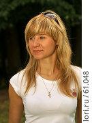 Купить «Портрет светловолосой девушки», фото № 61048, снято 24 июня 2007 г. (c) Смирнова Лидия / Фотобанк Лори