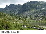 Купить «Озеро Радужное в Ергаках под висячим камнем», фото № 62248, снято 14 июля 2007 г. (c) Форис Алексей / Фотобанк Лори