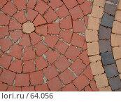 Купить «Фоновый рисунок тротуарной плитки, почти мозаика», фото № 64056, снято 30 апреля 2004 г. (c) Harry / Фотобанк Лори