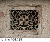 Купить «Декоративная отдушина в старом здании», фото № 64128, снято 30 мая 2004 г. (c) Harry / Фотобанк Лори