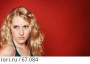 Грустная белокурая девушка. Стоковое фото, фотограф Михаил Лавренов / Фотобанк Лори