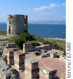 Башня и стена. Нессебар. (2005 год). Стоковое фото, фотограф Дмитрий Гришин / Фотобанк Лори