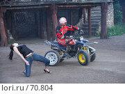 Купить «Выступление каскадера. Сетуньская крепость, Москва», эксклюзивное фото № 70804, снято 10 июня 2007 г. (c) Ирина Мойсеева / Фотобанк Лори