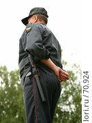 Купить «Российский полицейский (милиционер)», фото № 70924, снято 28 июля 2007 г. (c) Морозова Татьяна / Фотобанк Лори