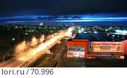 Ночной Сыктывкар. Редакционное фото, фотограф Вячеслав Осокин / Фотобанк Лори
