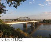 Купить «Мост в свете заходящего солнца, через реку Белая, г. Уфа», фото № 71920, снято 14 августа 2007 г. (c) Талдыкин Юрий / Фотобанк Лори
