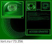 Купить «Биометрия - сканирование глаза перед входом», иллюстрация № 73356 (c) Дмитрий Савицкий / Фотобанк Лори