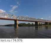Купить «Железнодорожный мост через реку Белая, г. Уфа», фото № 74976, снято 14 августа 2007 г. (c) Талдыкин Юрий / Фотобанк Лори