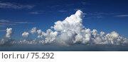 Купить «Воздушные замки. Панорама кучевых облаков.», фото № 75292, снято 1 июля 2007 г. (c) Владимир Мельников / Фотобанк Лори