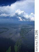 Купить «Воздушные замки кучевых облаков над весенним разливом реки Обь», фото № 75296, снято 30 июня 2007 г. (c) Владимир Мельников / Фотобанк Лори