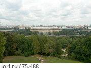 Купить «Вид на Москву с Ленинских гор», эксклюзивное фото № 75488, снято 4 сентября 2005 г. (c) Татьяна Юни / Фотобанк Лори