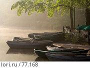 Купить «Кафе у воды туманным утром», фото № 77168, снято 27 апреля 2007 г. (c) Михаил Лавренов / Фотобанк Лори