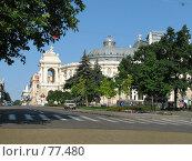 Купить «Вид на Одесский оперный театр», фото № 77480, снято 6 августа 2006 г. (c) Людмила Жмурина / Фотобанк Лори