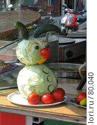 Купить «Смешной капустный зайчик», фото № 80040, снято 31 августа 2007 г. (c) Fro / Фотобанк Лори