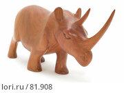 Купить «Деревянный носорог», фото № 81908, снято 16 июля 2018 г. (c) Угоренков Александр / Фотобанк Лори