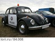 Купить «Ретроавтомобиль Фольксваген Жук полицейский», эксклюзивное фото № 84008, снято 8 июля 2007 г. (c) Журавлев Андрей / Фотобанк Лори