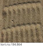 Купить «Узор на песке, след на песке от граблей», фото № 84864, снято 13 июля 2007 г. (c) Golden_Tulip / Фотобанк Лори