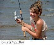 Купить «Рыбалка и девушка», фото № 85364, снято 12 июня 2005 г. (c) vitamin13 / Фотобанк Лори