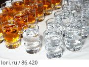 Купить «Стопки с алкоголем», эксклюзивное фото № 86420, снято 8 сентября 2007 г. (c) Ирина Мойсеева / Фотобанк Лори