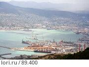 Купить «Новороссийск: вид на Цемесскую бухту», фото № 89400, снято 19 сентября 2018 г. (c) SummeRain / Фотобанк Лори