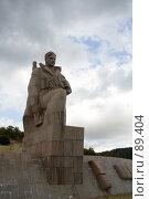 Купить «Новороссийск: памятник солдату», фото № 89404, снято 18 сентября 2018 г. (c) SummeRain / Фотобанк Лори