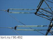Купить «ЛЭП. Фрагмент», фото № 90492, снято 13 августа 2005 г. (c) Куликова Татьяна / Фотобанк Лори