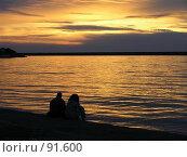 Купить «Закат над бухтой», фото № 91600, снято 15 августа 2018 г. (c) Наталья Ткаченко / Фотобанк Лори