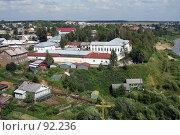 Купить «Тотьма. Вид города с колокольни», фото № 92236, снято 31 июля 2007 г. (c) Екатерина Соловьева / Фотобанк Лори