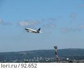 Самолет на взлете (2007 год). Редакционное фото, фотограф Юрий Драгунов / Фотобанк Лори