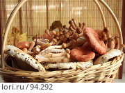 Купить «Грибы в корзине», фото № 94292, снято 20 сентября 2007 г. (c) Алексей Баринов / Фотобанк Лори