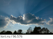 Купить «Солнце за облаком», фото № 96576, снято 17 августа 2007 г. (c) Герман Молодцов / Фотобанк Лори