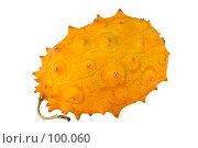 Купить «Спелый кивано (clipping path)», фото № 100060, снято 17 октября 2007 г. (c) Алексей Судариков / Фотобанк Лори