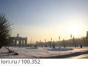 Купить «Зимний городской пейзаж на ВВЦ, кончается короткий день...», фото № 100352, снято 25 ноября 2004 г. (c) Harry / Фотобанк Лори