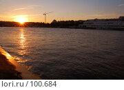 Закат на набережной. Стоковое фото, фотограф Арестов Андрей Павлович / Фотобанк Лори