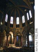 Купить «Интерьер католической церкви во Франции», фото № 102396, снято 6 декабря 2019 г. (c) Harry / Фотобанк Лори
