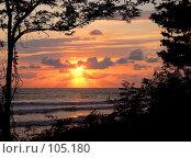 Купить «Закат над морем в Вишневке», фото № 105180, снято 21 мая 2019 г. (c) Владимир Сергеев / Фотобанк Лори