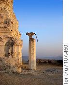 Купить «Обезьяна на развалинах древнего индийского храма», фото № 107460, снято 11 января 2005 г. (c) Владимир Сергеев / Фотобанк Лори