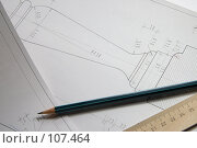 Чертежи, карандаш, линейка. Стоковое фото, фотограф Влад Нордвинг / Фотобанк Лори