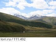 Купить «Алтай: р. Бугузун, Вид на г.Сайлюгем», фото № 111492, снято 26 июля 2006 г. (c) Александр Гершензон / Фотобанк Лори