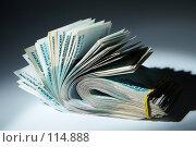 Купить «Пачка денег : теневые доходы», фото № 114888, снято 12 сентября 2007 г. (c) Ирина Мойсеева / Фотобанк Лори
