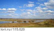 Купить «Облака над полем», фото № 115020, снято 21 марта 2018 г. (c) Т.Кожевникова / Фотобанк Лори