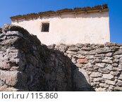 Купить «Реконструкция древнего жилища в Танаисе», фото № 115860, снято 22 февраля 2007 г. (c) Борис Панасюк / Фотобанк Лори