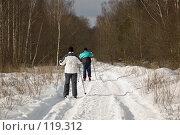 Купить «Лыжная прогулка», фото № 119312, снято 6 марта 2005 г. (c) Игорь Соколов / Фотобанк Лори